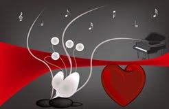 Musique de l'amour illustration libre de droits