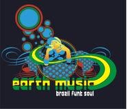 musique de la terre Photo stock