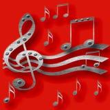Musique de métaux lourds Photo libre de droits
