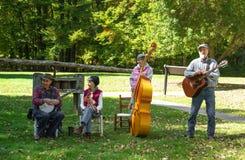 Musique de Mountian sur Ridge Parkway bleu Photo stock