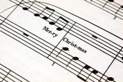 Musique de Noël Photographie stock libre de droits