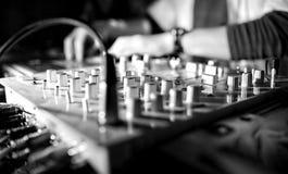 Musique de panneau du DJ Images stock