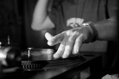Musique de panneau du DJ Photographie stock libre de droits