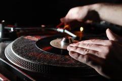 Musique de panneau du DJ Images libres de droits