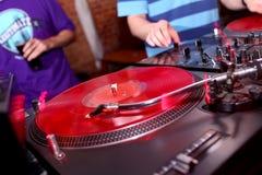 Musique de panneau du DJ Image stock