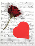 Musique de Valentine image stock