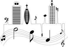 Musique de ville Photo stock