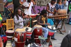 Musique des Caraïbes dans le carnaval d'été de Londres Images libres de droits