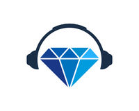 Musique Diamond Icon Logo Design Element Photos libres de droits