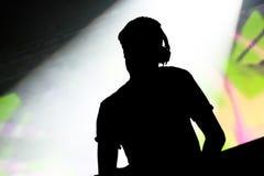 Disc-jockey de musique photographie stock libre de droits