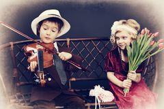 Musique du coeur Photos libres de droits