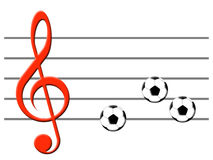 Musique du football Image stock