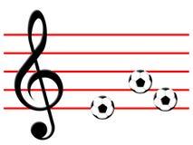 Musique du football Image libre de droits