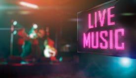 Musique en direct Images libres de droits
