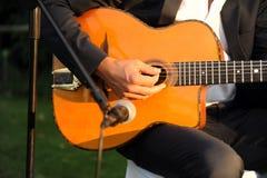 Musique en direct de flamenco, guitare espagnole Images libres de droits