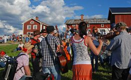 Musique en Suède Photo libre de droits