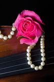 Musique et amour photos stock