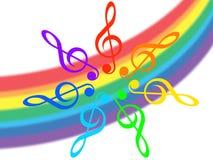 Musique et arc-en-ciel Images libres de droits