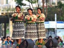 Musique et danse du Fiji Photographie stock libre de droits
