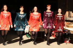 Musique et danse irlandaises traditionnelles Photos libres de droits