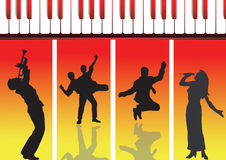 Musique et danse neuves Photos stock