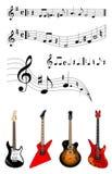 Musique et guitares Photographie stock