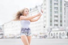 Musique et selfie Photo libre de droits