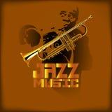Musique et trompette de jazz Photographie stock