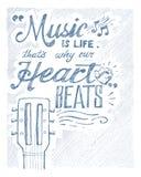 Musique et vie Photos libres de droits