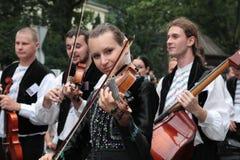 musique folk Roumanie traditionnelle photographie stock libre de droits