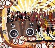 Musique futuriste de couleur illustration de vecteur