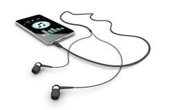 Musique mobile Photo stock