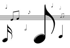 Musique outre de la feuille photographie stock libre de droits