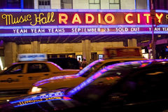 Musique par radio Hall New York City de ville Photo libre de droits
