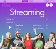 Musique par radio Joy Concept de Podcast Images libres de droits