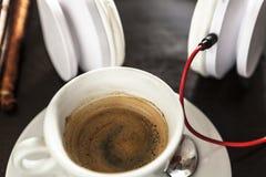 Musique pour mon café image stock