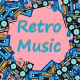Musique, rétro, fond, vecteur, vintage, conception, affiche, cadre, illustration, audio, bruit, partie, grunge, vieux, art, disqu illustration de vecteur