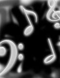 Musique rougeoyante Photographie stock libre de droits