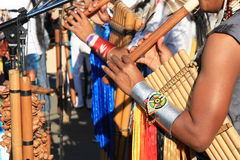 Musique sud-américaine indigène Image stock