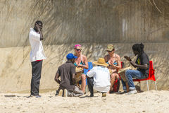 Musique sur la plage Photo libre de droits