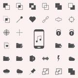 musique sur votre icône de smartphone ensemble universel d'icônes de Web pour le Web et le mobile illustration de vecteur