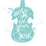 Musique tirée par la main de lettrage dans votre âme illustration de vecteur