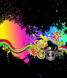 Musique tropicale et fond latin de disco illustration de vecteur
