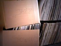 Musique - vieille collection record Images libres de droits