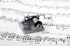 Musixc Bopx na música de folha Imagem de Stock