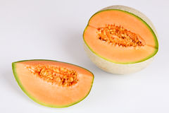 Musk melon. With white background Stock Images