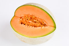 Musk melon. With white background Stock Image