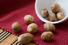Muskatnuts stockfoto