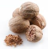 Muskatnuts stockbild