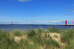 Muskegon Lighthouses Royalty Free Stock Images